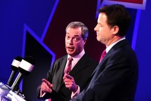 Nick Clegg And Nigel Farage Debate Britain's EU Membership