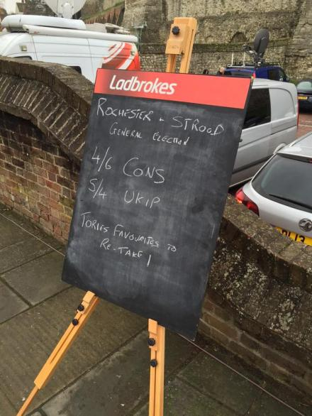 Ladbrokes odds the morning after Rochester by-election